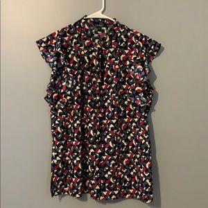 Ralph Lauren flutter sleeve blouse XL